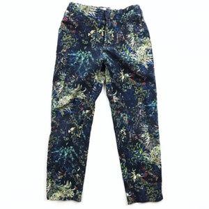 Zara Girls | Floral Skinny Jeans Stretch Autumn 7
